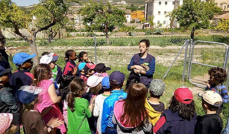 Voluntared y Huerteco, con Fundación La Caixa, han creado el Aula Rural de Santibáñez Zarzaguda. Espacio para acercar a los niños el medio natural y rural.