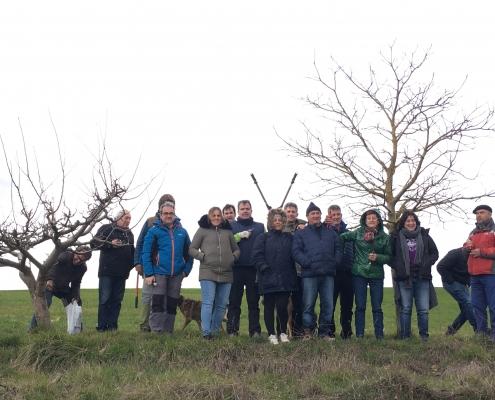 Participantes curso de poda de Busto de Bureba