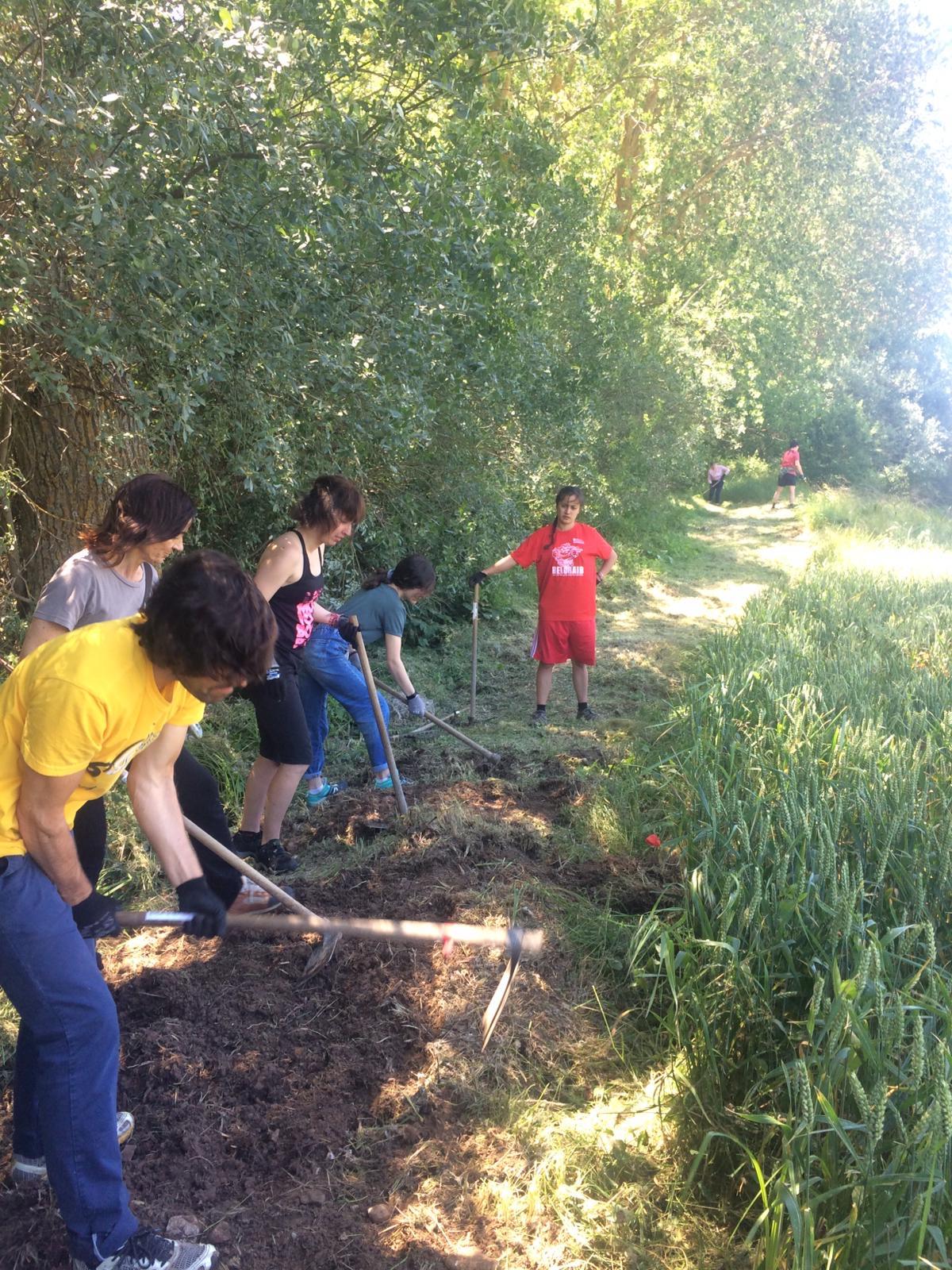 Limpieza senda Voluntariado ambiental Huerteco