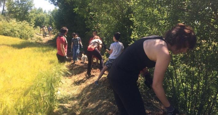 Voluntariado ambiental Huerteco con Santibañez